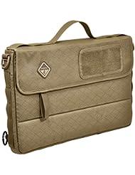 Hazard 4 - Bolso bandolera para portátil (sistema MOLLE, con compartimento de bolsillo), color marrón claro