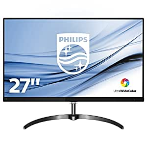 """Philips 276E8FJAB Monitor 27"""", Quad HD 2560 x 1440, LED IPS, Ultra Wide Color, Flicker Free, Cornici Sottili, Audio Integrato, HDMI, Display Port, VGA, Nero"""
