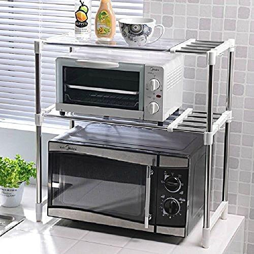 adjustable chrome microwave oven rack stand shelf unit. Black Bedroom Furniture Sets. Home Design Ideas