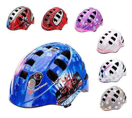 Kinder Fahrradhelm, Skaterhelm, Sicherheitshelm METEOR MA-2 RACING SIZE: M 52 bis 56 cm 235 g