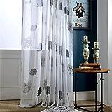 SLIAO HOME Gestickte Vorhänge Schlafzimmer Schiere Vorhänge für Wohnzimmer Tulle Fenster Vorhänge 200cmx265cm (80x106 Zoll) -1 Stück, 1