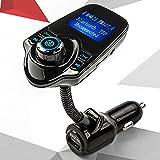 Trasmettitore FM,Ecandy Radio Wireless adattatore ricevitore Audio Stereo musica modulatore Kit per auto Bluetooth con caricabatterie USB, le mani chiamate gratuite (Black-new) - ECANDY - amazon.it