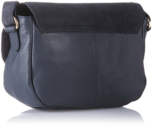 PIECES - Pcjoline Leather Cross Body, Borse a tracolla Donna Blu (Navy Blazer)