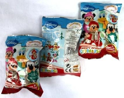 Mickey Mouse Clubhouse Plüsh-Figuren : 3 x Booster Mickey Mouse Plüsh-Figuren