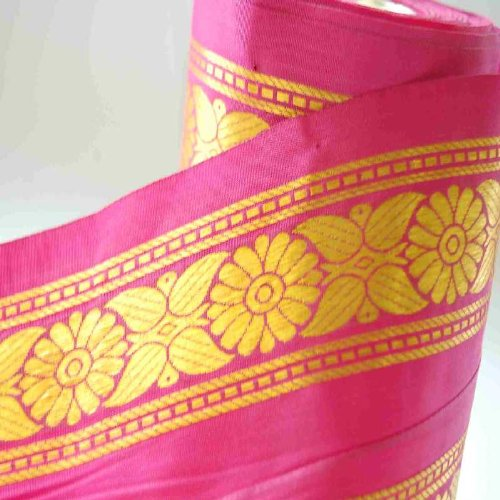 Neotrims India Silk Satin Sari Salwar Kameez 10cm Wide Ribbon Trimming Material. Beautiful 10.5cm wide ribbon; Beautiful Traditional Sari Border designs, Traditional Floral Jacquard