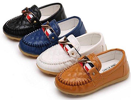 WUIWUIYU Enfant Fille Garçon Bateau Mocassin Loafer Oxford Chaussure