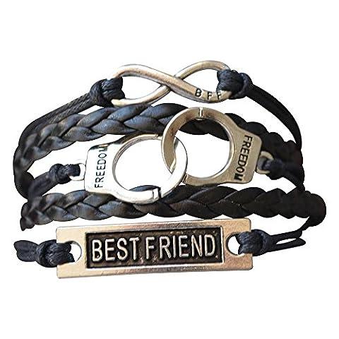 Best Friend Cuff Bracelet, Best Friends Jewellery, Handcuff Bracelet- Perfect Best Friend Gifts