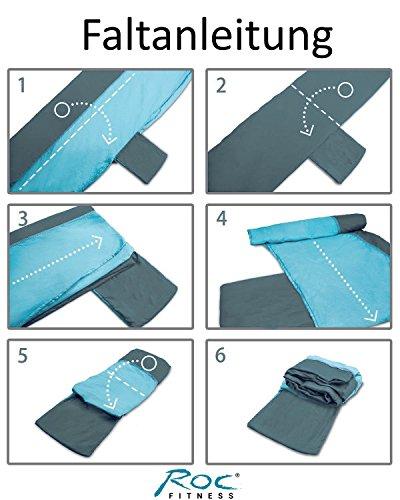 RocFitness® Hängematte aus 100% RipStop Nylon (Fallschirmseide) inkl. 2 Spezialschlaufen für besseren Halt - 3
