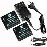 DSTE 2-pack Rechange Batterie et DC120E Voyage Chargeur pour Panasonic DMW-BLG10 LUMIX DMC-GF3 DMC-GF5 DMC-GF6 DMC-GX7 DMC-LX100