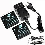 DSTE(2 Pack)Ersatz Batterie und DC120E Reise Ladegerät Kit für Panasonic DMW-BLG10 LUMIX DMC-GF3 DMC-GF5 DMC-GF6 DMC-GX7 DMC-LX100 Kamera