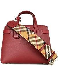Burberry - Bolso cruzados de Cuero para mujer Rojo magenta mini