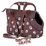 HOBBYDOG TORBWL1 + Ball gratis TRANSPORT BAG Transporttasche für Hunde und Katzen Hundetasche Katzentasche Transporttasche Tragetasche Transportbox (3 verschiedene Größen) (R3 (30 x 58 cm))