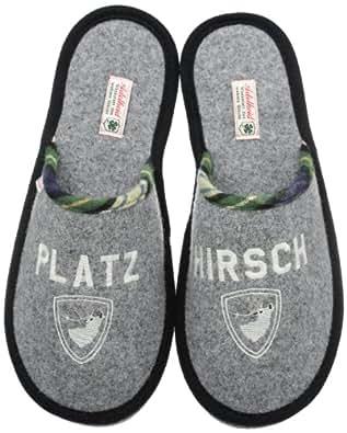 Adelheid Platzhirsch Filzpantoffel 12230263559, Herren Pantoffeln, Grau (mausgrau 940), EU 40/41