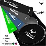 [Sponsored]Resistance Bands And Core Sliding Discs With 70➕ Exercise Guide ( PDF Download Ebook ➕ Printed Manual By Miami & Brazil CrossFit Trainers)   ➕ Carry Bag   ☑ For Heavy Medium And Light Exercises  Gliding Discs By B