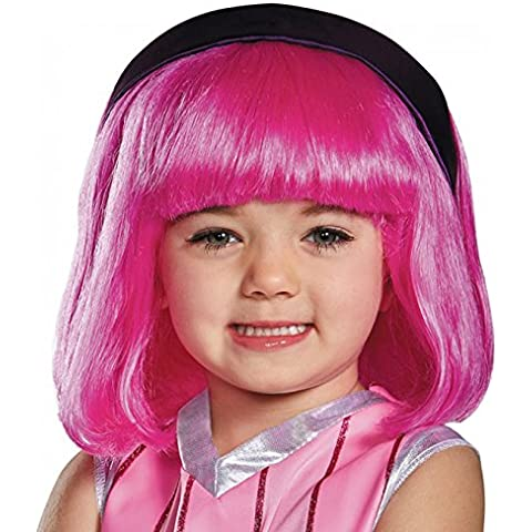 Disguise Stephanie Lazy Town Cartoon Network Wig, One Size (Up to Size 6), One Color