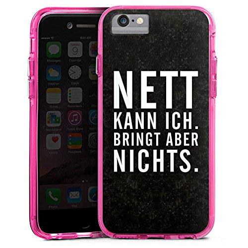 Apple iPhone 6s Plus Bumper Hülle Bumper Case Glitzer Hülle Nett Life Vie Bumper Case transparent pink