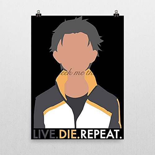 live-die-repeat-natsuki-subaru-rezero-poster-by-geek-me-that