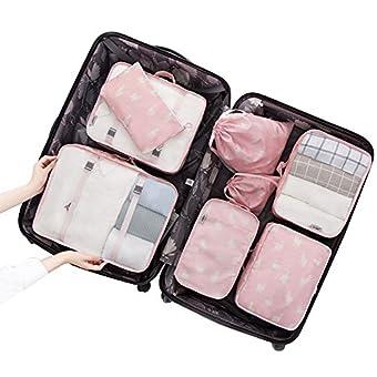 tentock 8Reisen Unterwäsche Tasche BH Dessous Tasche Multifunktional Reise Organizer Kulturbeutel Kosmetiktasche Handtasche Gepäck, Aufbewahrungsbox für Kosmetika, Toilettenartikel, Hotel, Home, Badezimmer, Flugzeug, Pink sheep