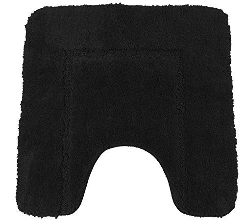 Weich Schwarz cashmere-feel Chenille Rutsch WC-Vorleger 50x 50cm
