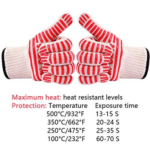horno y barbacoa guantes /guantes de cocina Smartstore alta protecci/ón contra el calor guantes para horno/ Cocina Cocina Pot Holder Restaurante cocinar mantener la piel Cool. Cafe