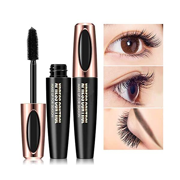 Lzzow 4D Silk Fiber Lash Mascara, Fiber Mascara, 4D Silk Fiber Eyelash Mascara, Lo Mejor para Engrosamiento y…