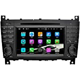 SAVORI Android 7.1.1 Nougat 2GB RAM 2 din In Dash 7 Zoll Autoradio Moniceiver DVD GPS Navigation für Mercedes Benz C-Class W203 (2004-2007) Mercedes Benz CLK W209(2004-2005)