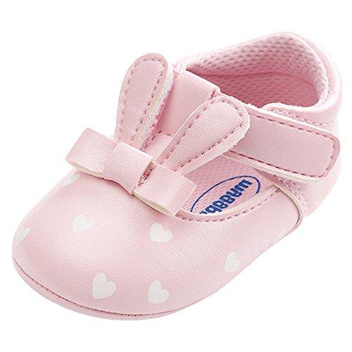 Premiers Chaussures Bébé Fille, Sunenjoy Sneakers Bébé Fille Semelle Souple Sandales Oreilles de Lapin Doux Mode Mignonne Printemps Été