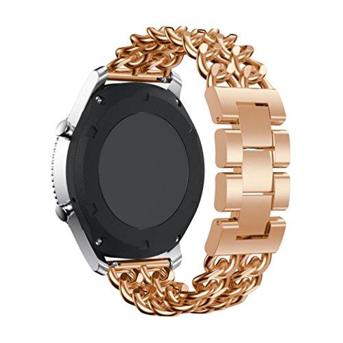 Preisvergleich Produktbild Sansee Raster Metall Uhr Kettengürtel Edelstahl Uhrenarmband Ersatzband für Samsung Gear S3 Frontier (Rose Gold)