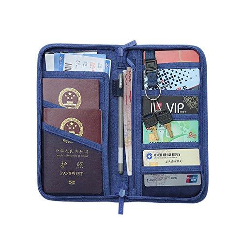 Comfysail Familie Tragbar Reisepasshüllen Reisepass-Halter mit RFID Reisebrieftasche Ticket Etui Reise-Dokumente Tasche