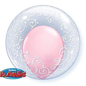"Qualatex 13693""Deco Fancy Filigree 1"" globo de burbujas, 60cm"