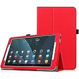 "Huawei MediaPad T1 10.0(9.6"") Tablet Funda - Fintie Folio Soporte Funda Case para Huawei MediaPad T1 10.0(9.6"") Android Tablet, Rojo"