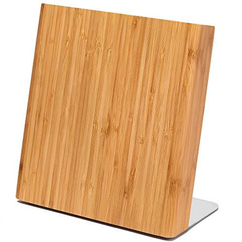Letalis - blocco portacoltelli magnetico in legno di bambù, senza coltello, perfetto per una cucina ordinata e strutturata