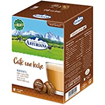 Central Lechera Asturiana Cápsulas de Café con Leche - 4 Paquetes de 16 Cápsulas - Total