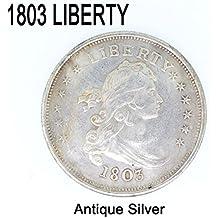 Yuver (TM) de la moneda de Estados Unidos 1803 iconos de moneda de plata de la libertad de la URSS se acumulan en la entrega de d¨®lar conmemorativa lingotes de monedas de la copia