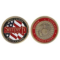 AniYY Commemorative Coin America Marine Corps Motto Honor Courage Commitment Collection Craft Art Collectible Coins Souvenir
