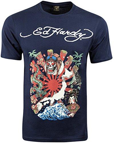 Ed Hardy -  T-shirt - Uomo Kamikaze - Navy Small