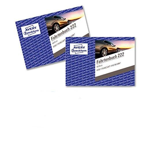 2 Fahrtenbuch für PKW im 2er-Pack (vom Finanzamt anerkannt, A6 quer, 80 Seiten insgesamt 390 Fahrten, für Deutschland und Österreich zur Abgrenzung privater/geschäftlicher Fahrten) ()