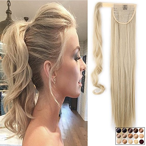 Coda di cavallo extension capelli clip in hair lisci 26