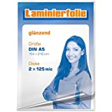 plastificar para DIN A5, 2x 125micrones, brillante, 100unidades)