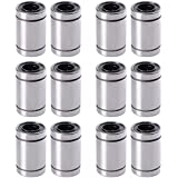 UEETEK 12 Piezas LM8UU bujes de rodamiento lineal de bolas para 8mm RepRap 3D impresora Prusa Mendel CNC TE249 8x15x24mm