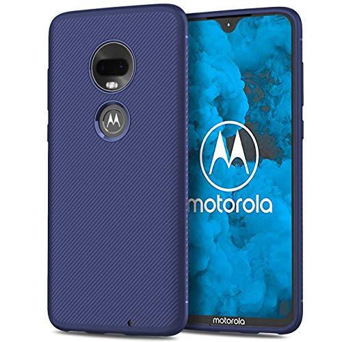 GEEMEE Hülle für Motorola Moto G7 Plus, Slim Weich Dünn Silikon Cover Soft TPU Schutzhülle Tasche Case, Scratch Stoßfest Handyhülle Thin Backcover Hüllen (Blau)