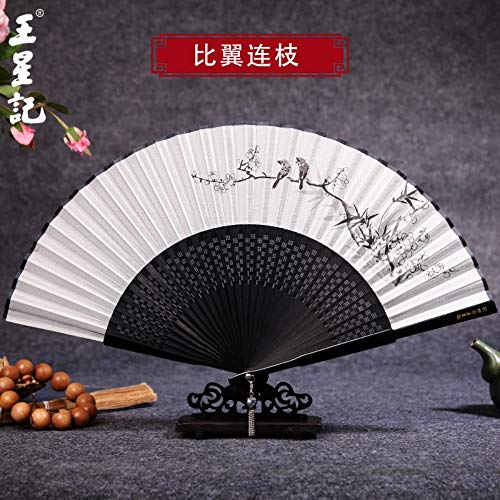 XIAOHAIZI Handklappventilator,Hand Painted Hollow Plum Animal Bird Summer Folding Fan Chinese Classical Ladies Wall Decoration Dance Fan