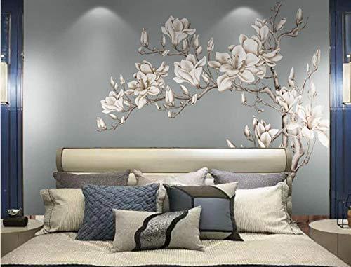 Foto carta da parati adesivo murale fiore di magnolia classico adesivi camera da letto soggiorno tv sfondo decorazione per la casa 150cm x 105cm