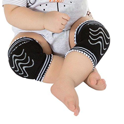 Baby Knieschoner,bobo4818 Unisex Baby Kleinkinder Crawlen Knie-Pads mit Anti-Slip (Schwarz)