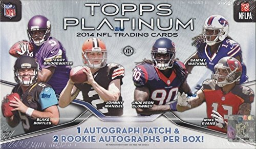 2014 Topps Platinum Football Hobby Box NFL
