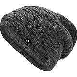 urban ace | Street Classics | Cozy fit Beanie, Mütze | Damen, Herren | mit weichem Teddyfell gefüttert | für warme Ohren | Relax fit (Charcoal)