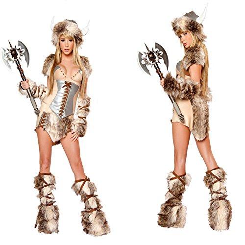DLucc Wikinger Wikinger-Krieger Kleid Halloween-Kostüme Kleidung Kuh König St. Animation Uniformen Kostüme