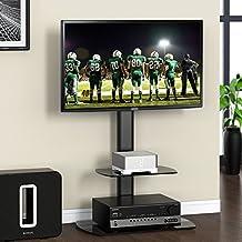 Fitueyes Soporte para TV de Suelo Base Giratorio con Dos Estantes para Televisor entre 32 a 50 pulgadas Marca Sony Samsung LG Vizio TVY TT206501GB