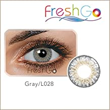 Farbige Jahres Kontaktlinsen, grau - blau, weich, ohne Stärke als 2er Pack (2 Stück)- mit Aufbewahrungsbox, angenehm zu tragen, perfekt für helle und dunkle Augen, Party