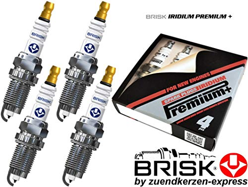 BRISK Iridium Premium+ Plus P7 1625 Candele d'accensione, set di 4